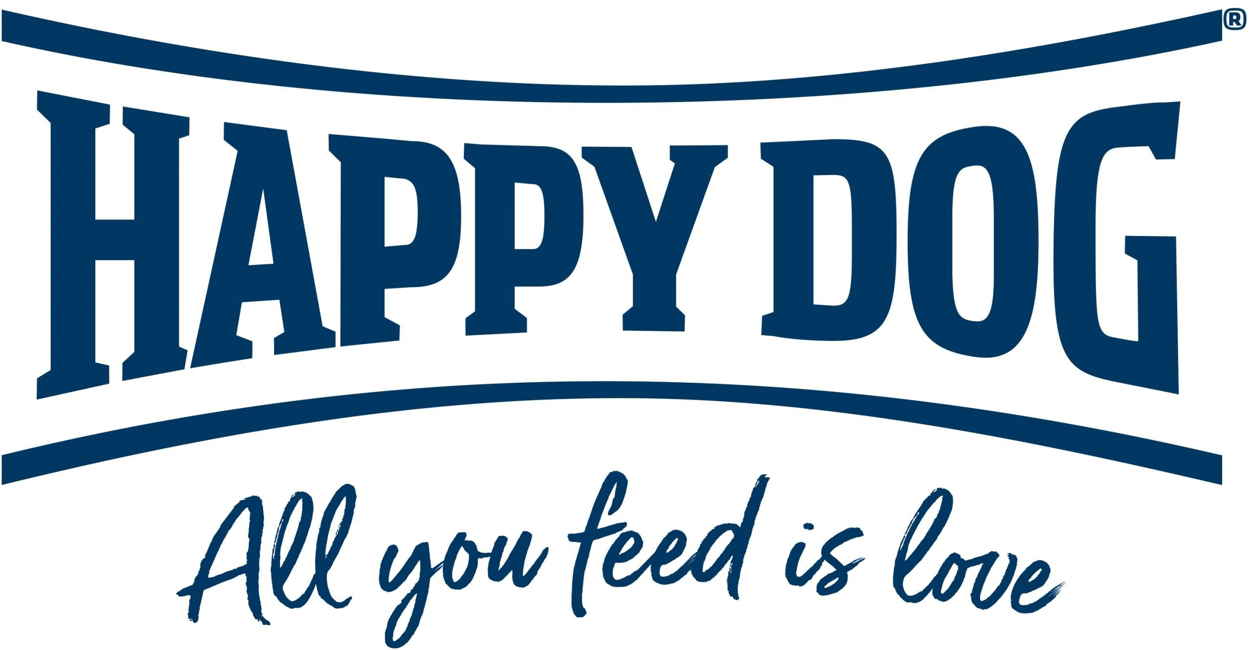 happy dog food logo